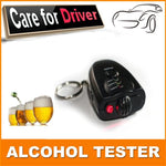 Car Key Chain Alcohol Tester.  Digital Breathalyzer
