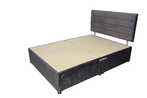 "Divan Base with 24"" lines across design Headboard"