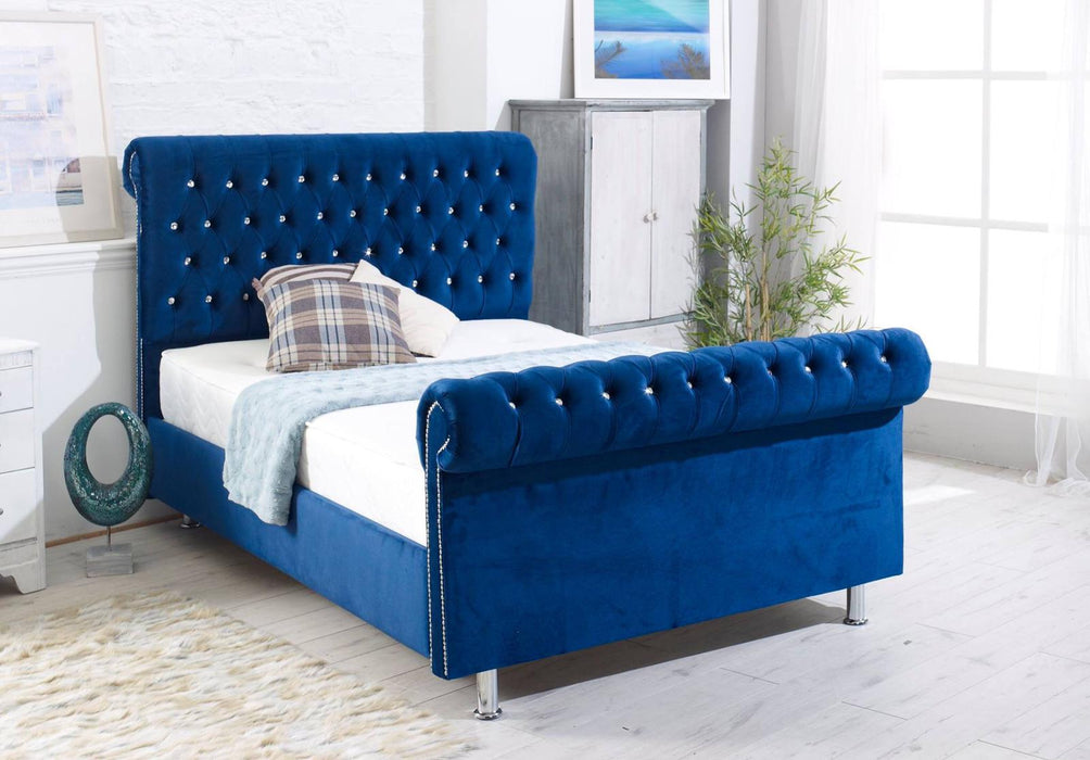 Scrolled Sleigh Bed Frame