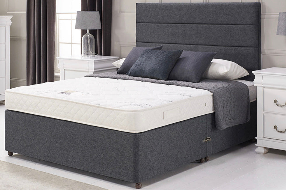 "Divan Base With 24"" Lines Headboard"