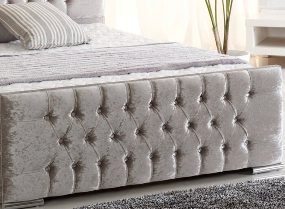 Tara Upholstered Sleigh Bed Frame