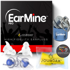 EarMine® High Fidelity MetaMesh Concert Musician Ear Plugs (Blue/Black)