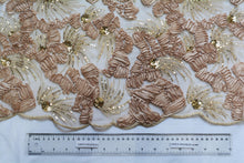Load image into Gallery viewer, Champagne Ribbon Embroidery Lace