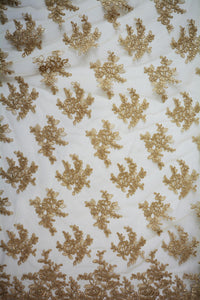 Sandalwood Gold Embroidery Lace