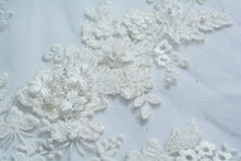 Load image into Gallery viewer, Pumice White Bridal Lace 3D Applique