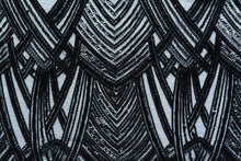 Load image into Gallery viewer, Woodsmoke Black Art Deco Lace