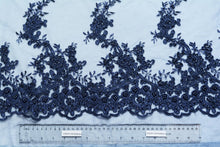 Load image into Gallery viewer, San Juan and Cloud Burst Blue Embroidery With Beads