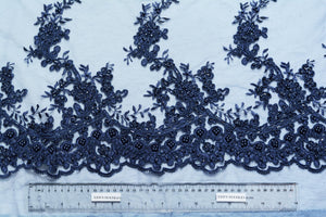 San Juan and Cloud Burst Blue Embroidery With Beads