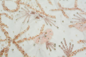 Hand-beaded Contessa Blush Lace