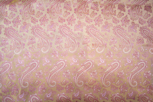 Mauvelous Pink Paisley On Harvest Gold