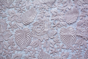 Soft Thatch Pink Guipure Lace