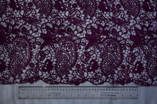 Load image into Gallery viewer, Bordeaux Paisley Floral Guipure Lace