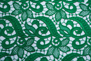 Fun Emerald Green Guipure Lace