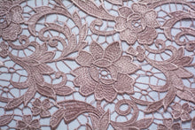 Load image into Gallery viewer, Deep Brandy Rose Guipure Lace