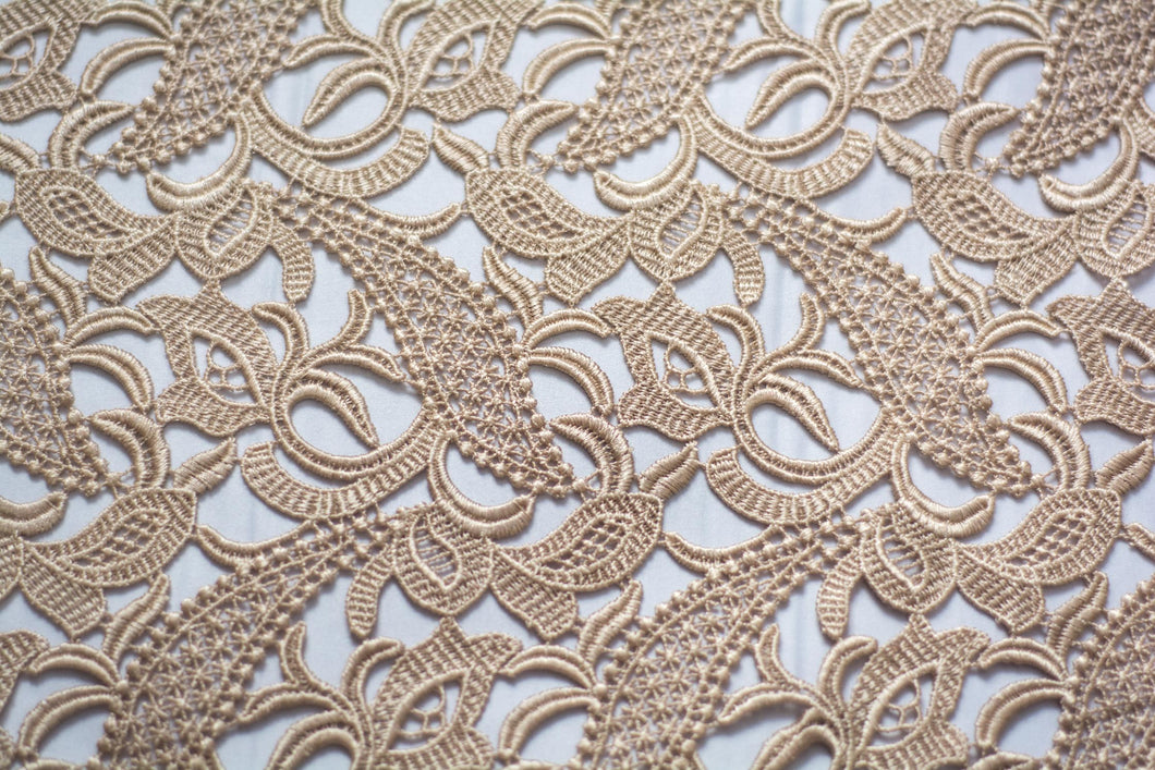 Cameo Guipure Lace Swirls and Leaves