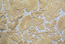 Load image into Gallery viewer, Guipure Lace - Pavlova Gold