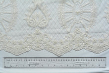 Load image into Gallery viewer, Soft Pumice White Lace with Beads