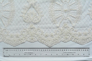 Soft Pumice White Lace with Beads