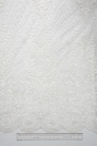 off white border bridal lace