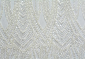 Pumice White Tulle Interlocking Arches