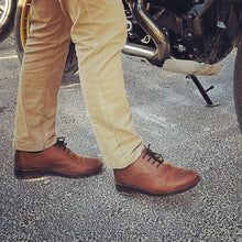 Load image into Gallery viewer, Minho Shoes - OldMulla - Boots Store, Handmade By George, Vintage Men Boots, Handmade Casual Elegant Boots & Shoes for Men Brown Vintage High Quality Motorcycle Cafe Racer OldMulla