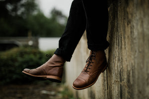Tâmega Boots - OldMulla - Boots Store, Handmade By George, Vintage Men Boots, Handmade Casual Elegant Boots & Shoes for Men Brown Vintage High Quality Motorcycle Cafe Racer OldMulla