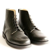 Load image into Gallery viewer, Tejo Black Boots - OldMulla - Boots Store, Handmade By George, Vintage Men Boots, Handmade Casual Elegant Boots & Shoes for Men Brown Vintage High Quality Motorcycle Cafe Racer OldMulla