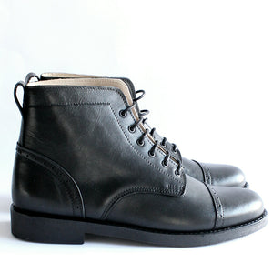 Tejo Black Boots - OldMulla - Boots Store, Handmade By George, Vintage Men Boots, Handmade Casual Elegant Boots & Shoes for Men Brown Vintage High Quality Motorcycle Cafe Racer OldMulla