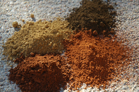 natural earth pigments, umber pigments, natural paint