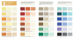 Natural paint, zero-VOC color palette