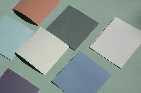 natural paint swatches, zero-VOC
