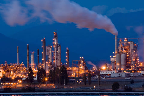 A petrochemical plant