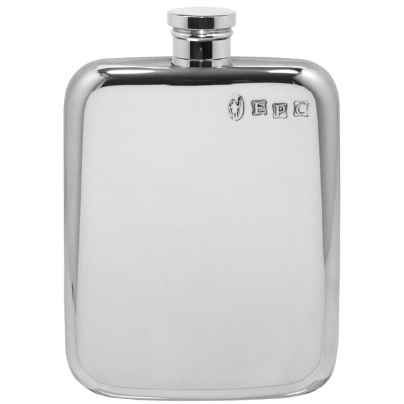 English Pewter 4oz Purse Whisky Flask Pewter