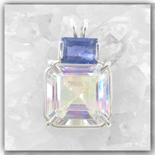Angel Aura Earth Heart™ with Iolite