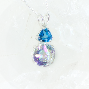 SOLD! Angel Aura Mini Radiant Heart™ with Blue Topaz