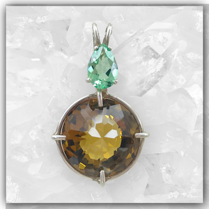 Citrine Radiant Heart™ with Tibetan Green Obsidian