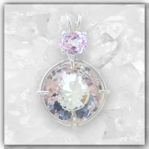 Clear Quartz Radiant Heart™ with Kunzite