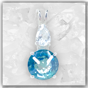 Aqua Aura Mini Radiant Heart™ & Aquamarine