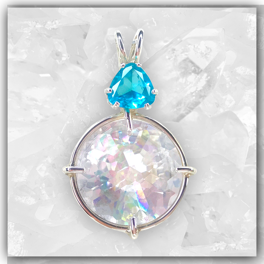 Angel Aura Radiant Heart™ with Bahia Blue Obsidian
