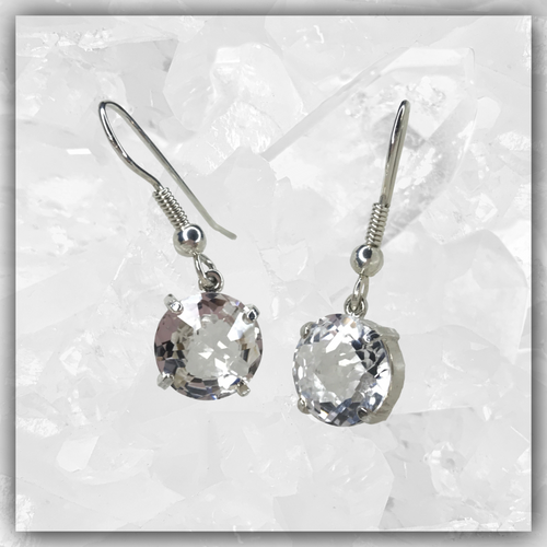 Clear Quartz Radiant Heart™ Earrings