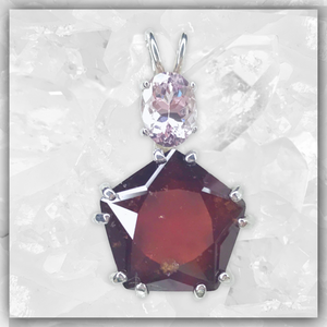 Hessonite Garnet Star of Venus™ & Morganite