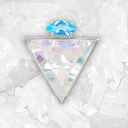 Angel Aura Angelic Star™ with Blue Topaz