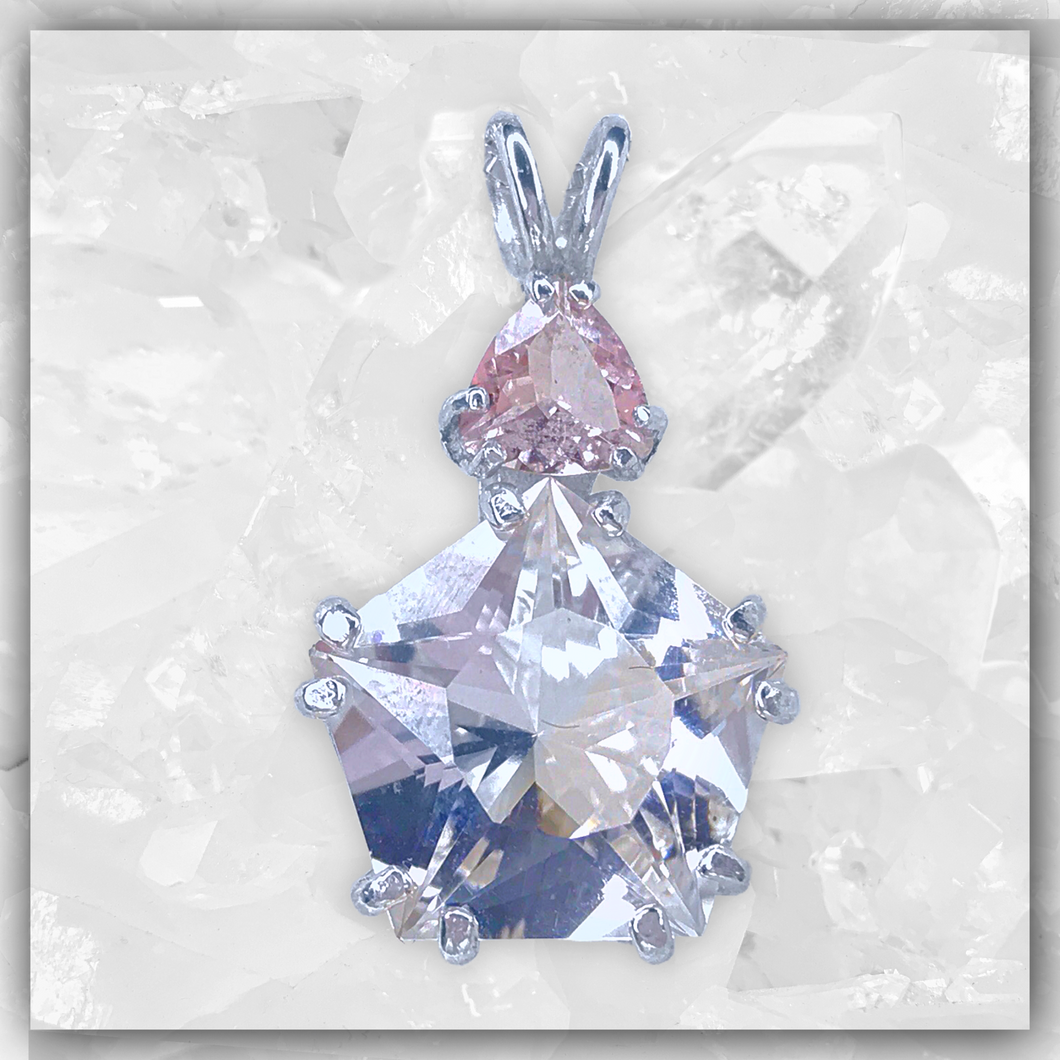 Clear Quartz Star of Venus™ & Morganite