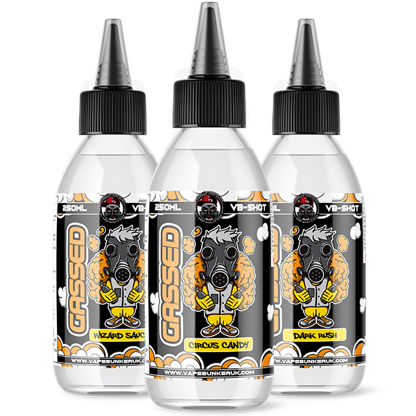 250ml Gassed Flavour Shots - VapeBunkerUK