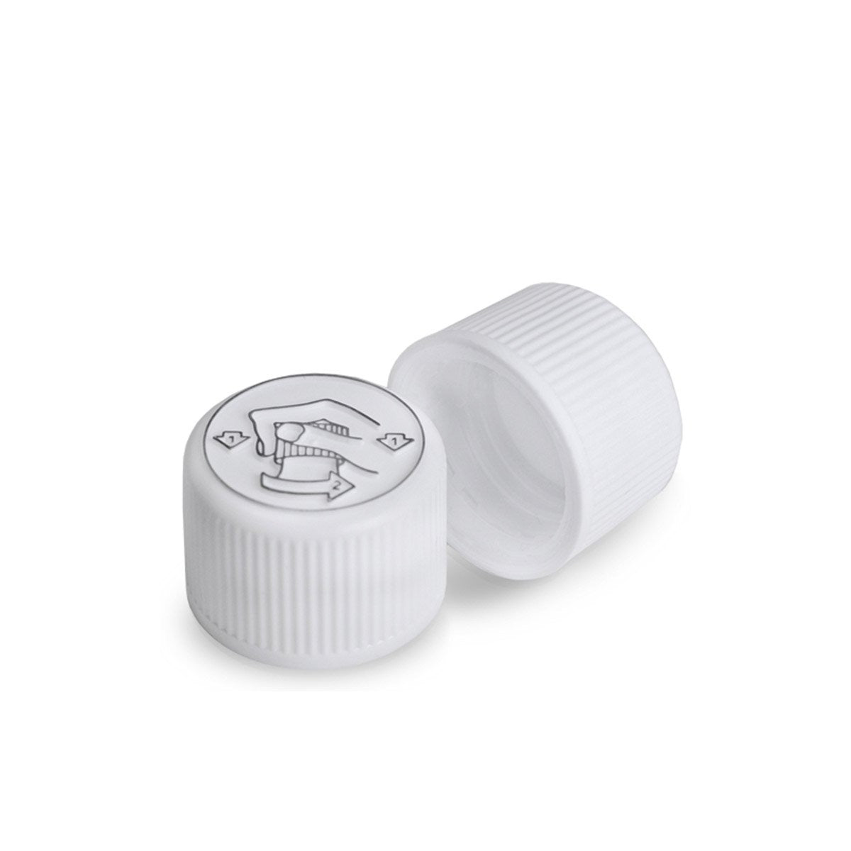28mm White Child Resistant Cap - VapeBunkerUK