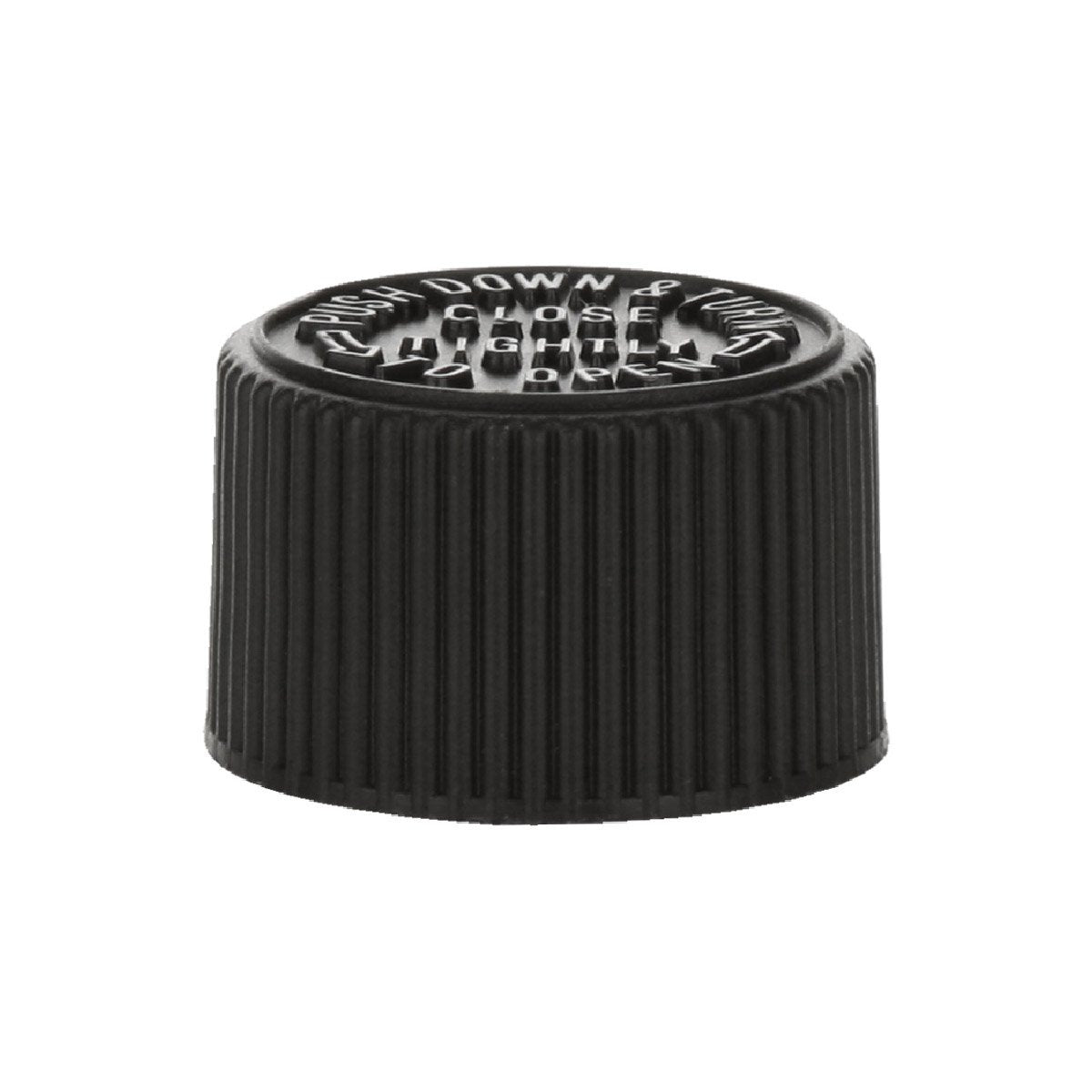 20mm Black Child Resistent Cap - VapeBunkerUK