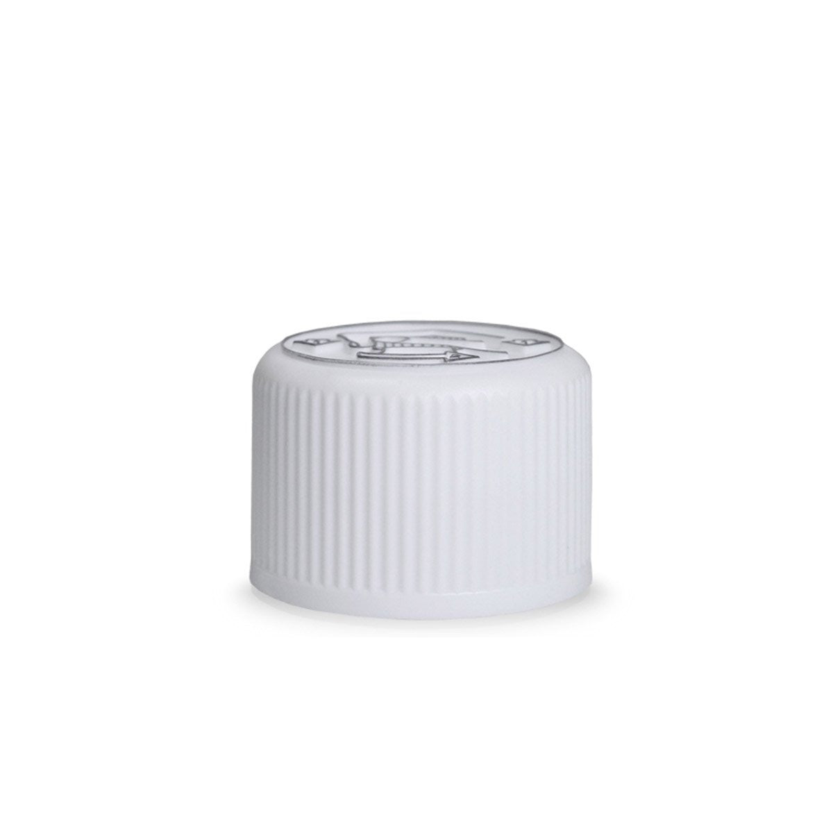 20mm White Child Lock Cap - VapeBunkerUK