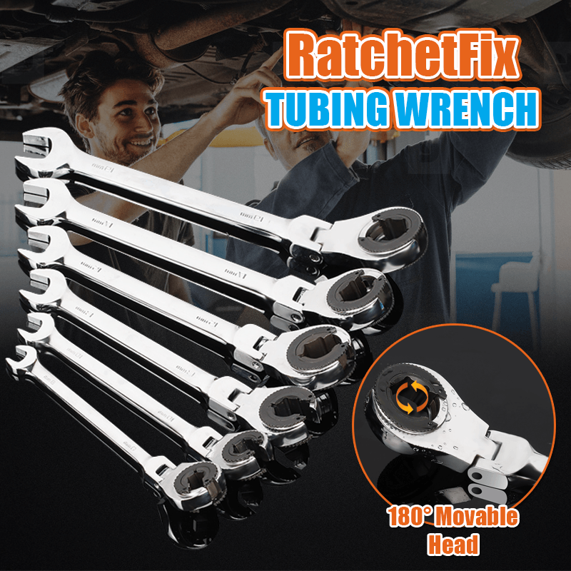 1688 Handmade 8mm RatchetFix Tubing Wrench with Flexible Head