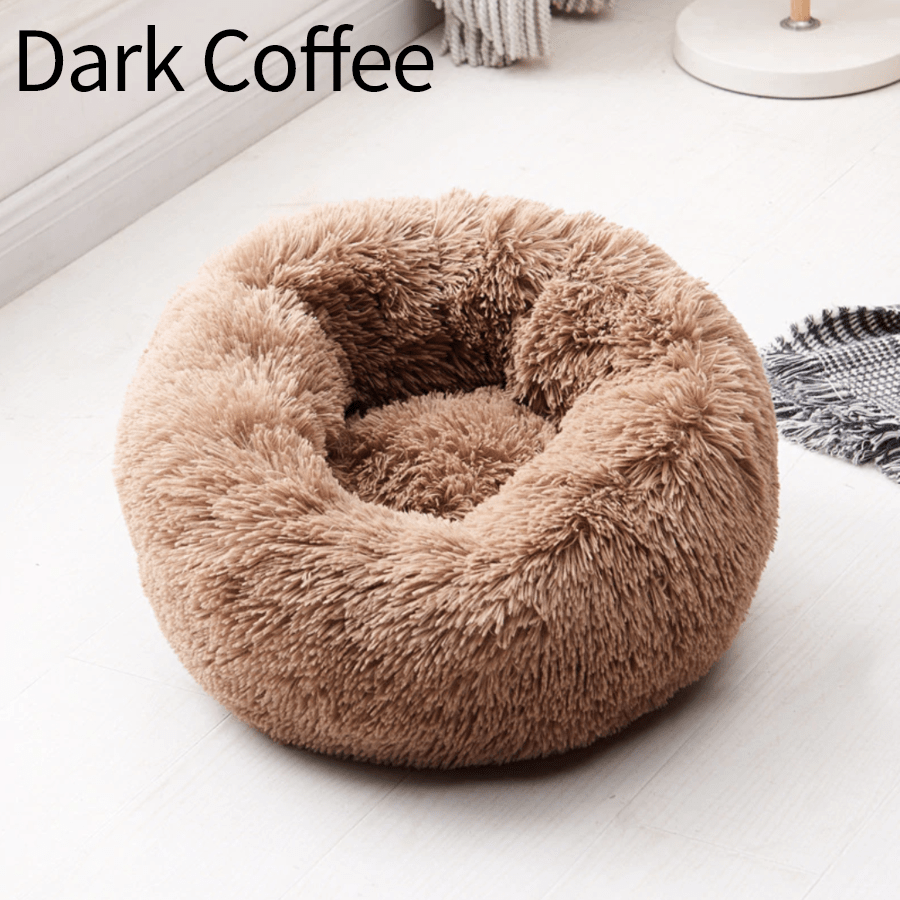 Comfy Pet Home Handmade Dark Coffee / XS Cozy Donut Cuddler - Luxury Dog and Cat Bed™