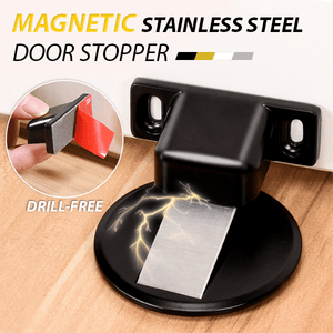 DIDA Handmade Black Stainless steel invisible magnetic doorstop